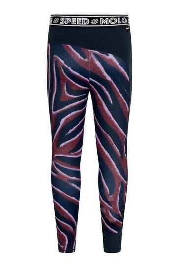 Girls Zebra Stripe Sports Leggings