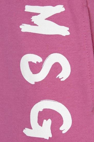 Girls Pink Cotton Logo Skirt