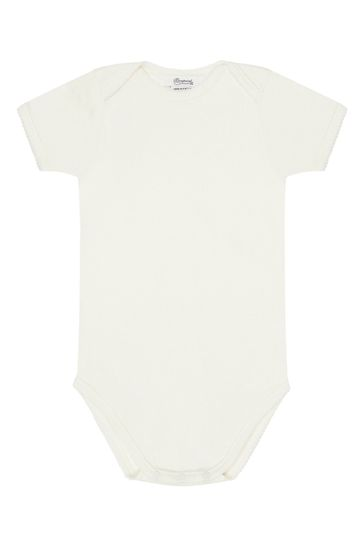 Baby Boys Blue Cotton Bodysuits Set