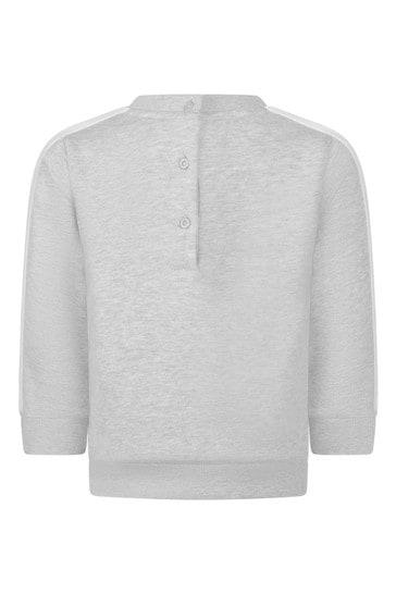 Baby Grey Cotton Logo Sweater