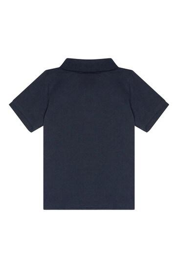 Baby Boys Navy Cotton Poloshirt