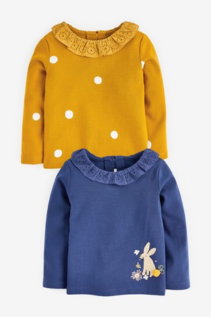 Blue 2 Pack Bunny Blouse Tops (3mths-7yrs)