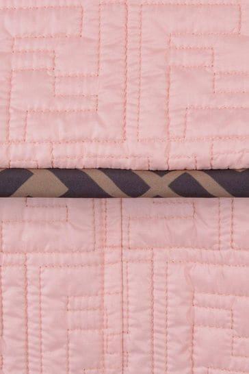Girls Pink FF Logo Trench Coat