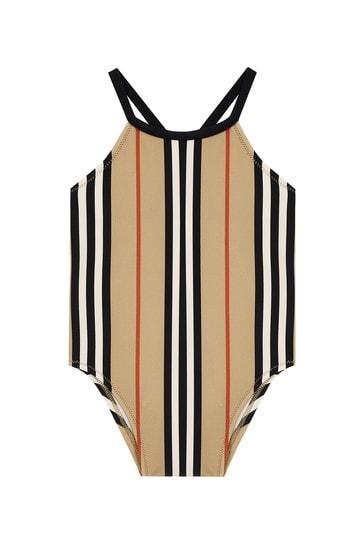 Baby Girls Beige Swimsuit