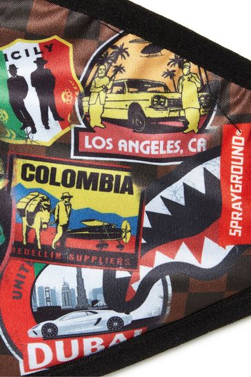 Kids Black Travel Patches Face Covering