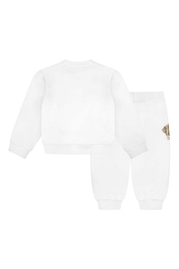 Baby White Cotton Tracksuit