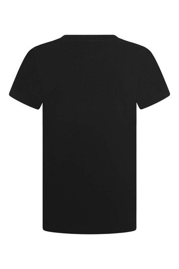 Kids Black Cotton Jersey T-Shirt