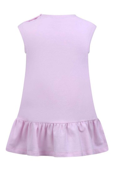 Baby Girls Pink Cotton Logo Dress