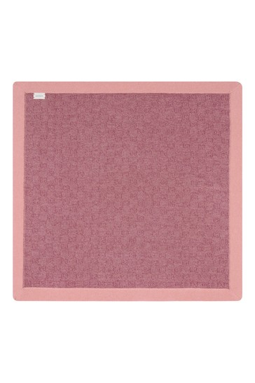 Baby Girls Pink Knitted GG Blanket