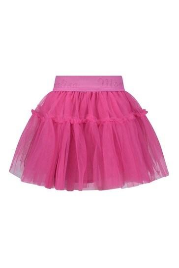 아기 소녀 핑크 튤 스커트