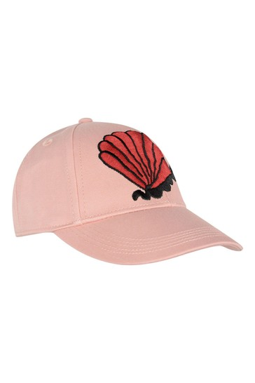 Girls Pink Organic Cotton Shell Cap