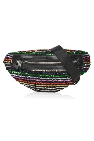 Girls Multicoloured Sequin Belt Bag