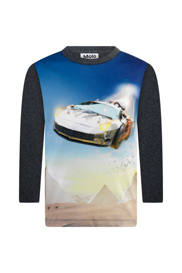 Boys Organic Cotton Long Sleeve Past T-Shirt