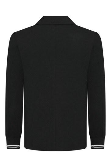 Boys Black Logo Blazer