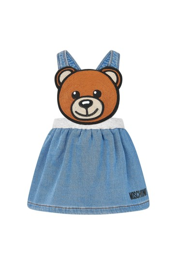 Baby Girls Blue Cotton Skirt