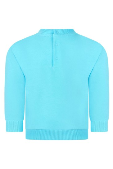 Baby Boys Blue Cotton Sweater