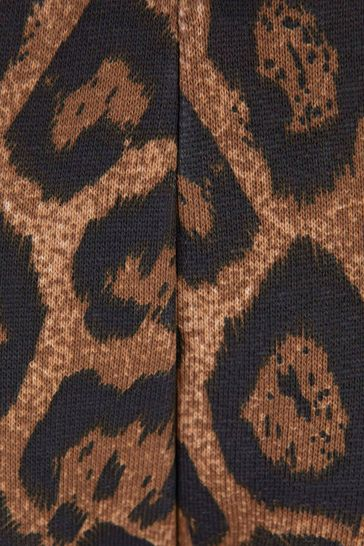 Girls Leopard Print Cotton Joggers