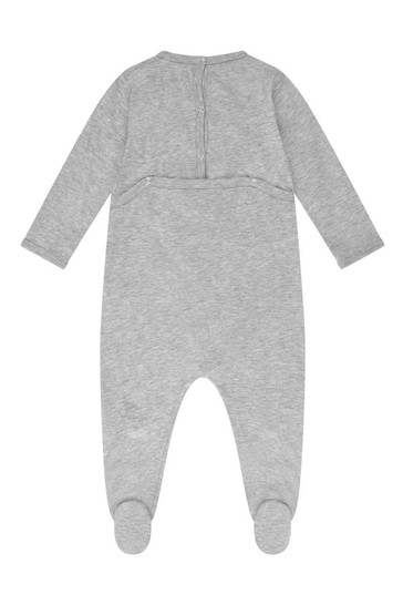 Grey Cotton Babygrow