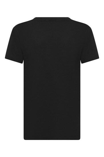블랙 코튼 티셔츠