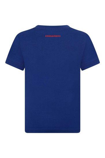Boys Cotton Jersey Logo Print T-Shirt