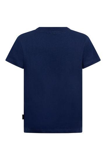 Boys Navy New Game Organic Cotton T-Shirt