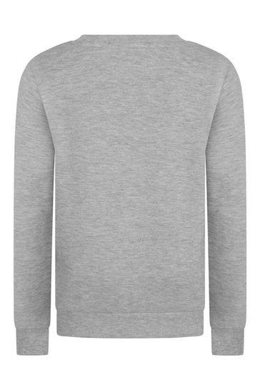 Girls Grey Logo Sweater