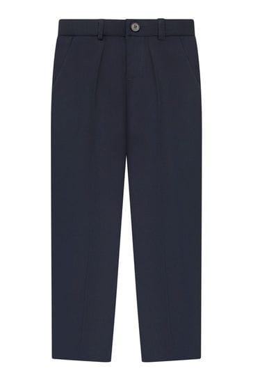 Boys Navy Woven Suit