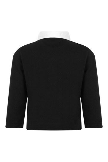Baby Boys Black Cotton Poloshirt