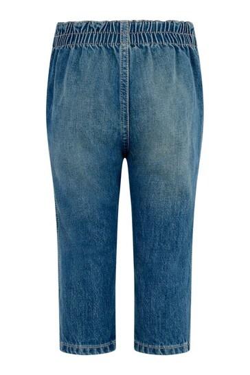 Baby Blue Bleached Denim Jeans