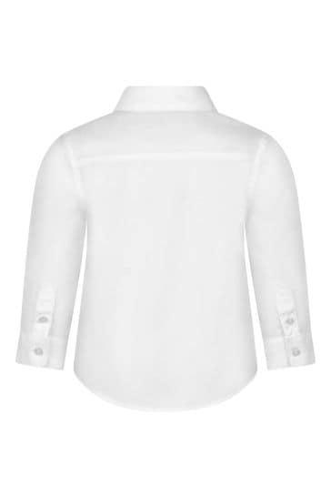 Baby Boys White Cotton Shirt