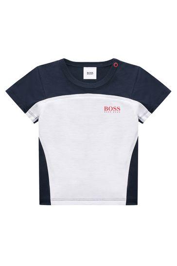 BOSS Baby Boys White Cotton T-Shirt