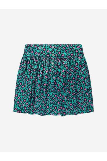 Girls Cheetah Print Sateen Skirt