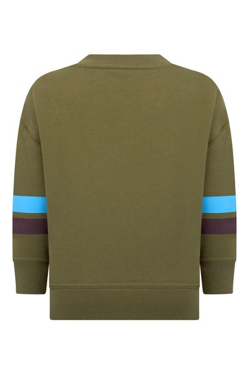 Boys Khaki Cotton Sweatshirt