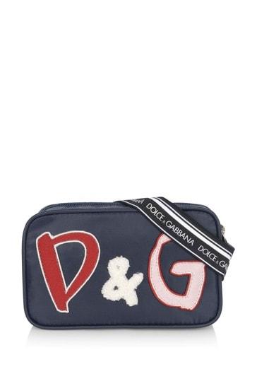 Girls Blue Logo Bum Bag