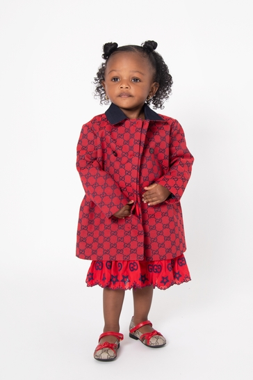 Baby Boys Red Cotton Coat