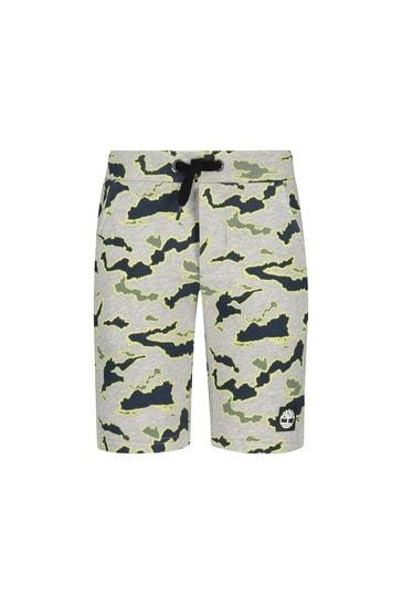 Timberland Boys Grey Cotton Shorts