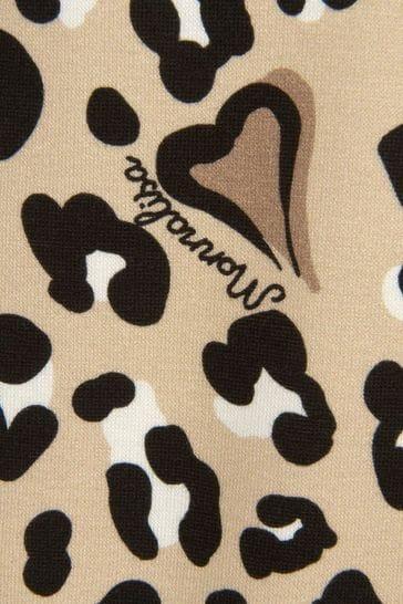 Girls Leopard Print Viscose Dress