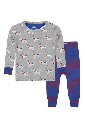 Baby Boys Organic Cotton Grey Pyjama 2 Piece Set