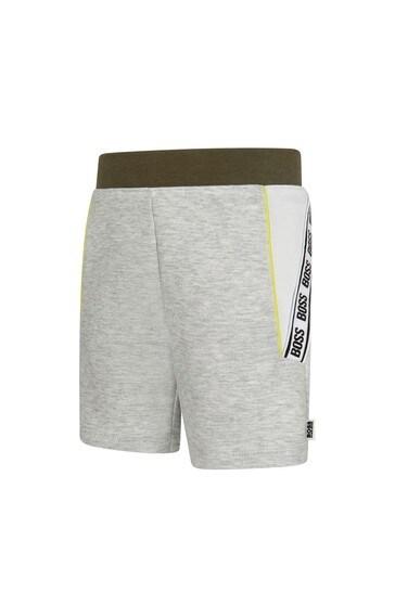 BOSS Baby Boys Grey Cotton Shorts
