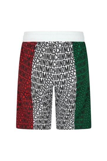 Moschino Boys Red Cotton Shorts