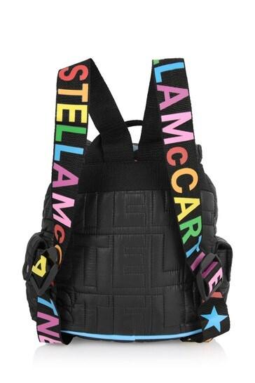 Kids Black Embossed Icon Backpack