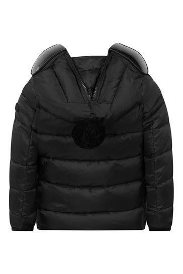 렌즈가 있는 소년 블랙 다운 패딩 재킷
