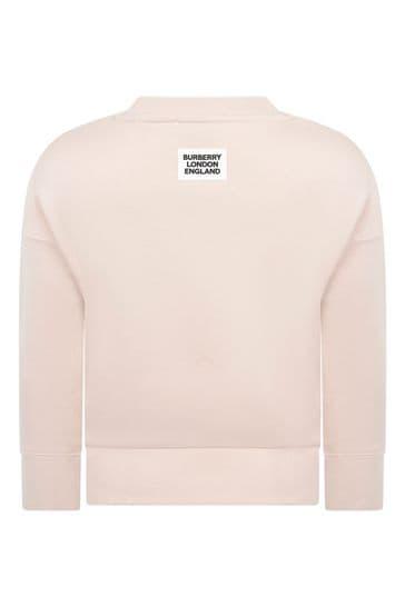 Girls Soft Pink Cotton Sweater