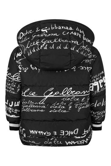 Girls Black Reversible Nyon Padded Jacket