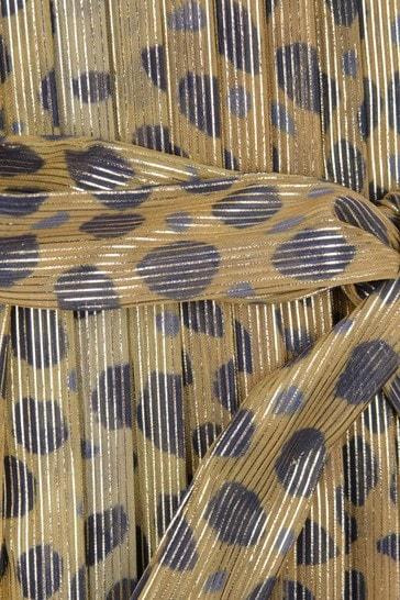 Girls Gold Cheetah Print Dress