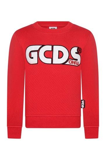 Kids Red Cotton Sweatshirt