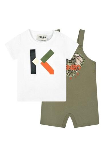 Baby Boys Khaki Cotton Outfit