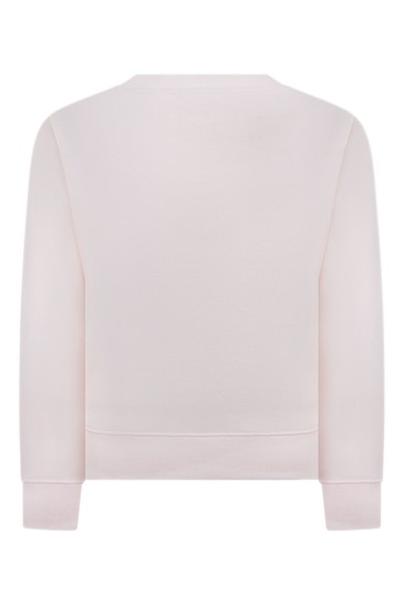 Girls Pink Embroidered Horses Sweater