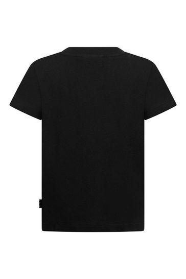 Boys Black Organic Cotton T-Shirt