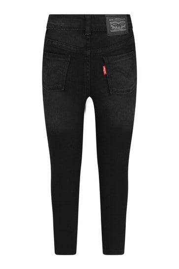 Girls Black Cotton Jeans